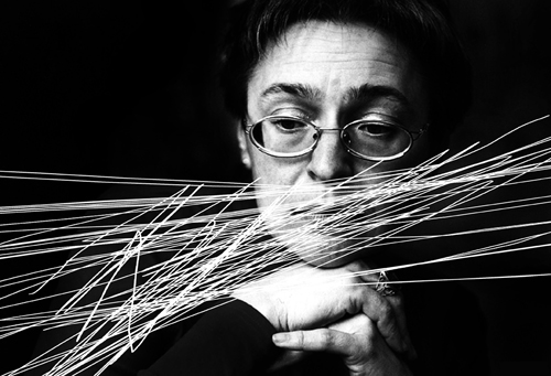 **FILE** Independent Russian journalist Anna Politkovskaya seen in Moscow in this undated file photo. Anna Politkovskaya was killed in Moscow, Saturday,Oct.7,2006.
